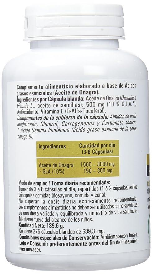Hijas Del Sol - Aceite de Onagra, 275 Cápsulas Blandas: Amazon.es: Salud y cuidado personal