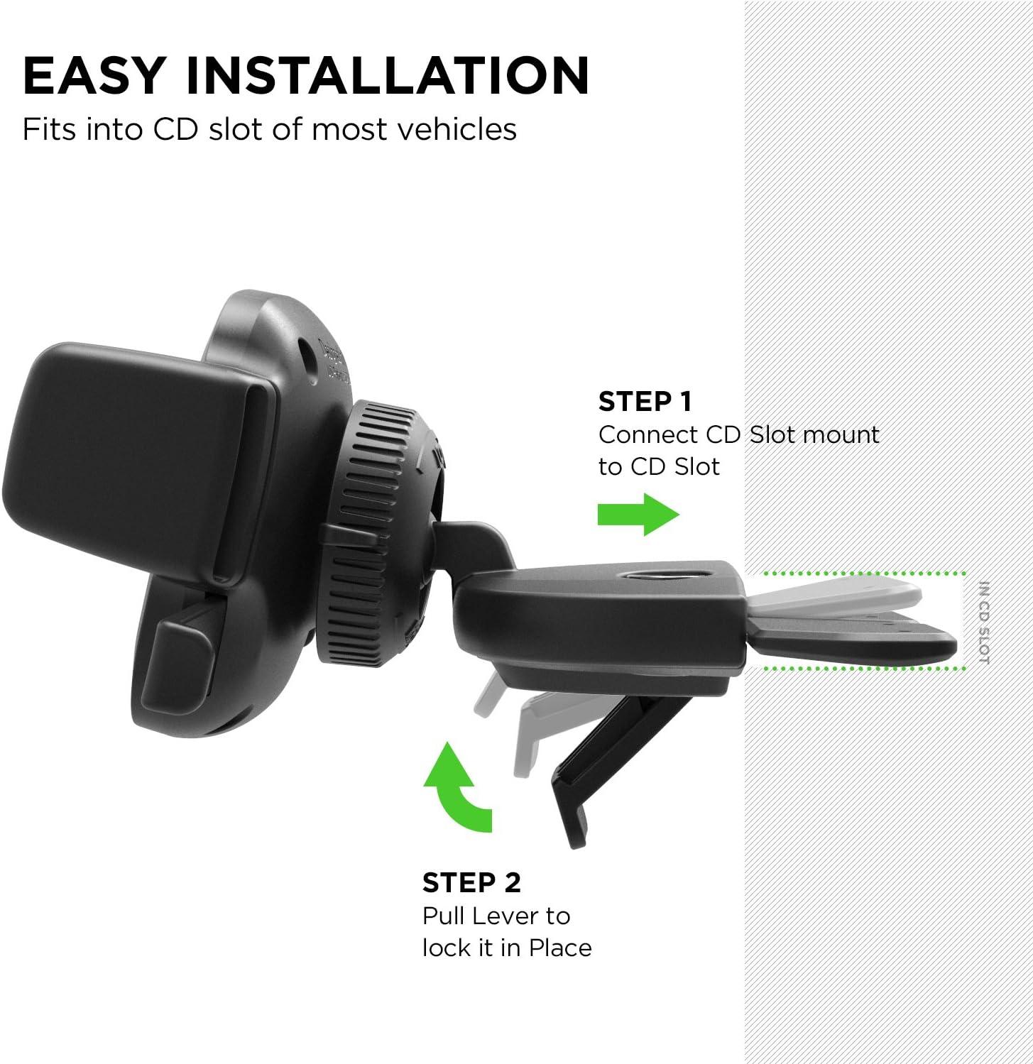 Iottie Easy One Touch 4cd Steckplatz Telefonhalterung Für Iphone Xs Max R 8 Plus 10 W Für Samsung Galaxy S10 E S9 S8 Plus Edge Hinweis 9 Elektronik