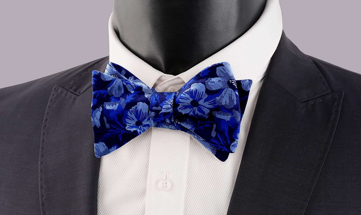 Turquoise+Orange Alizeal Mens Wedding Floral Pattern Self-tied Bow Tie and Pocket Square Set