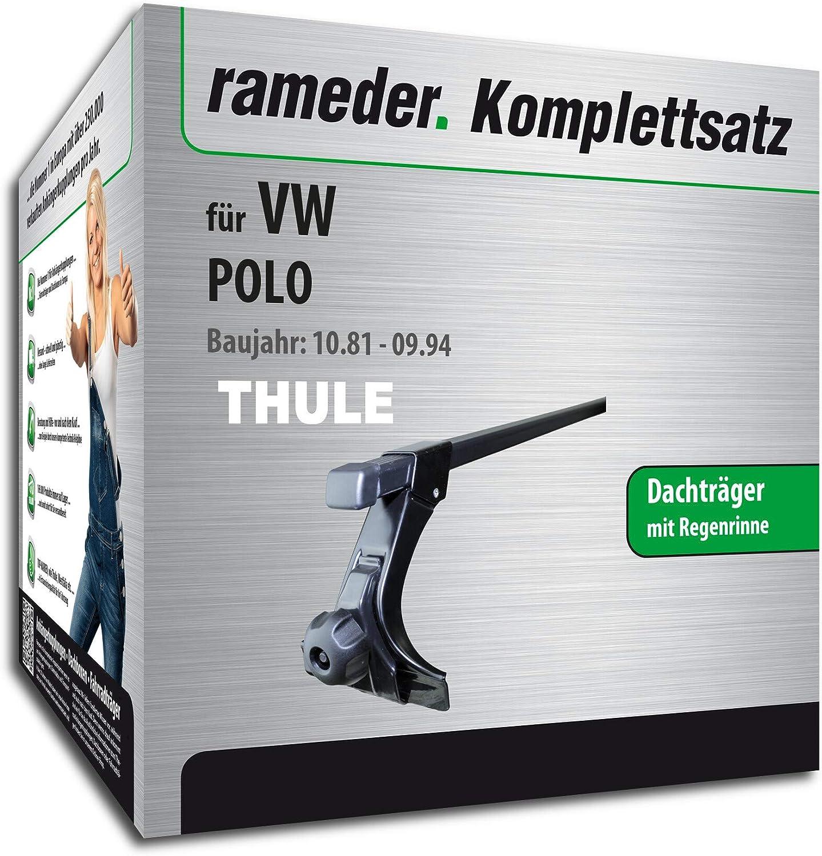 115957-00436-1 Rameder Komplettsatz Dachtr/äger SquareBar f/ür VW Polo