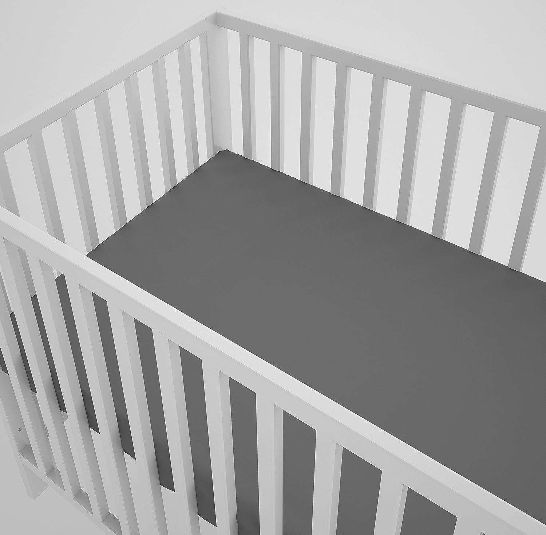3-teiliges Set Babybett-W/äsche 100x135 cm mit Spannbettlaken und Kissen-Nestchen sechs Kissen samt Bez/ügen f/ür das Babybett 70x140 cm