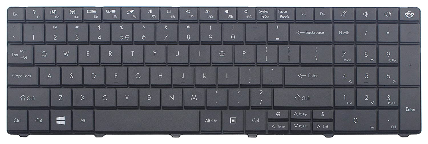 Amazon.com: CHNASAWE Laptop Replacement Keyboard compatible with packard bell EasyNote EN LE69KB TE69BM TE69BMP TE69CX TE69CXP TE69HW TE69KB , US layout ...