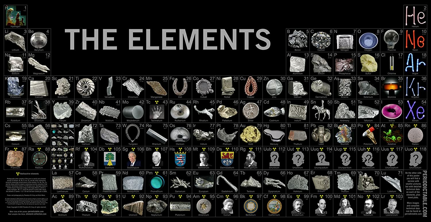 Amazon photographic periodic table of the elements poster by amazon photographic periodic table of the elements poster by theodore gray everything else urtaz Gallery