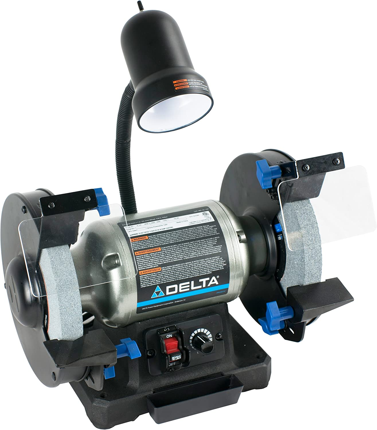 2. Delta Power Tools 23-197 8-Inch Variable Speed Bench Grinder