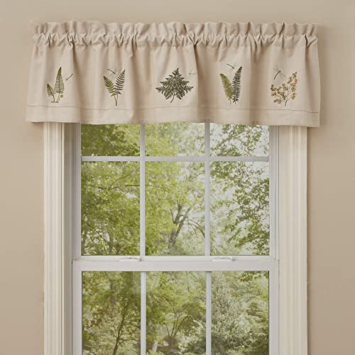 Park Designs Dragonfly Embroiderd Lined Valance 60 x 14