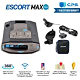 Escort 0100037-1 Max 360C Radar Laser Detector with Wi-Fi + Smart Direct Wire Cord + CPS Extended Warranty - Starter Bundle