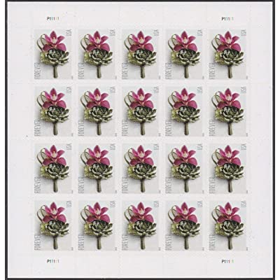 Contemporary Boutonniere Sheet of 20 Forever Postage Wedding Stamps Scott 5457: Everything Else