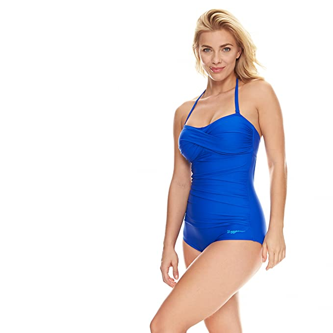 58f5561900f61 Zoggs Women's Zen Resort Ruched Booty Swim Suit: Amazon.co.uk: Sports &  Outdoors