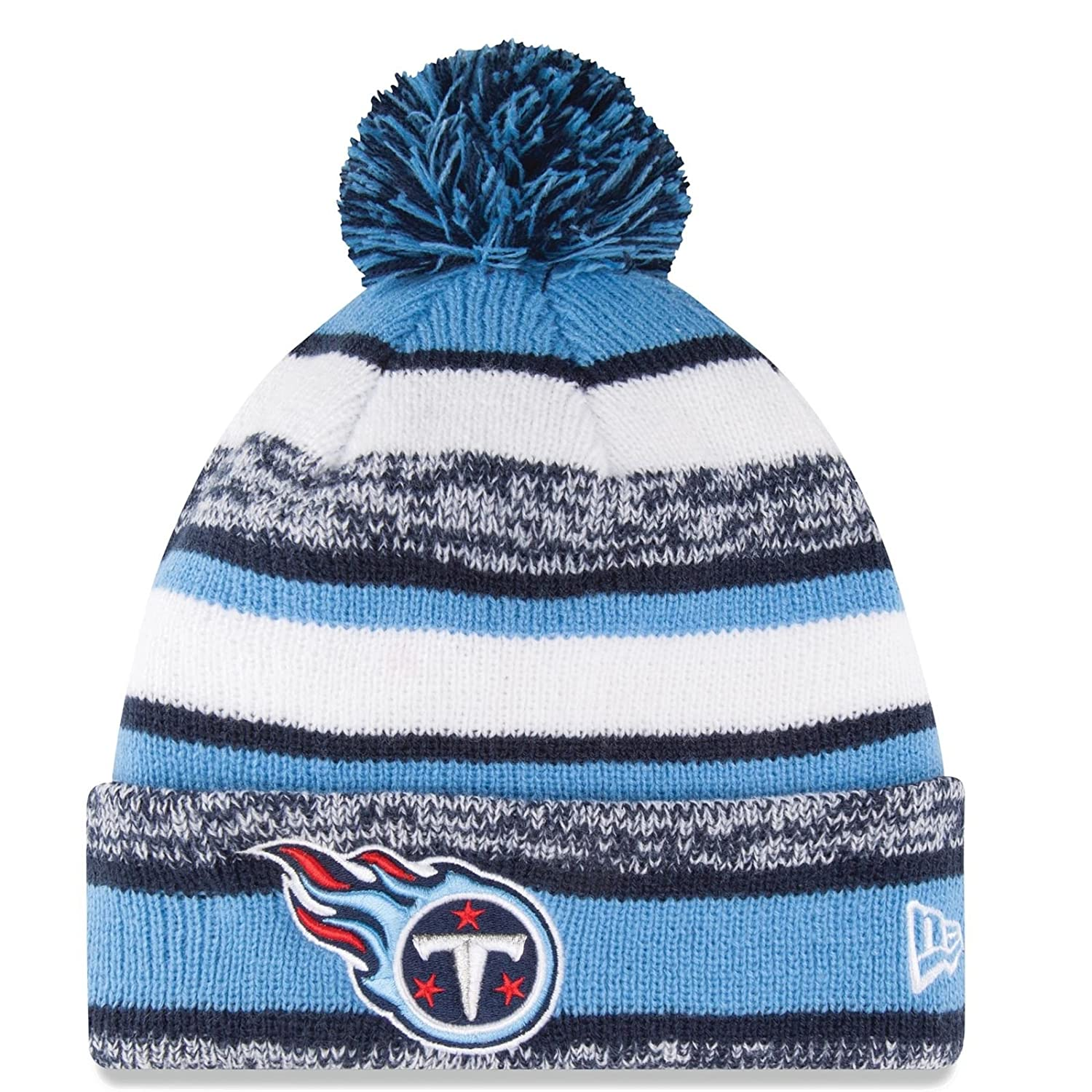 85ce9ef9d Amazon.com   Tennessee Titans Beanie New Era Sideline Cuffed Knit Hat    Sports   Outdoors