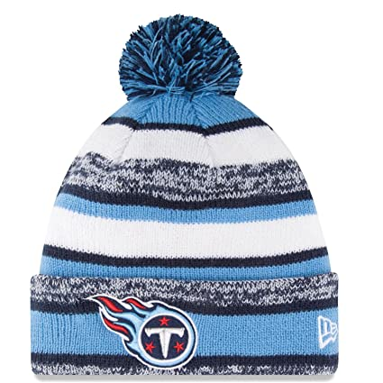 ccf3074e550de Amazon.com   Tennessee Titans Beanie New Era Sideline Cuffed Knit Hat    Sports   Outdoors