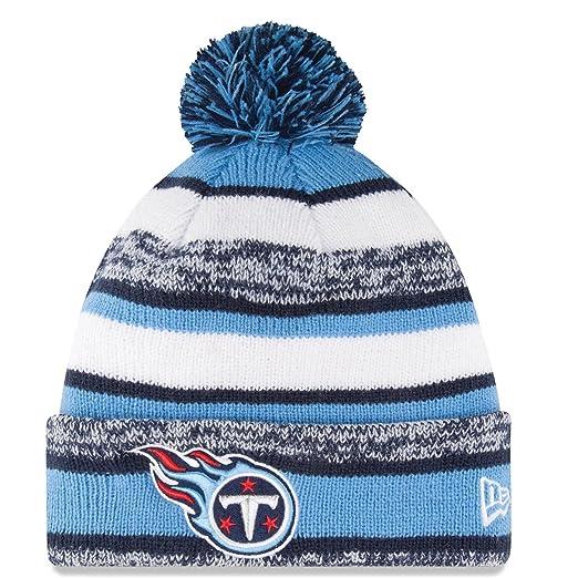 72eb6042a366da Amazon.com : Tennessee Titans Beanie New Era Sideline Cuffed Knit Hat :  Clothing