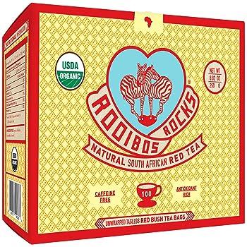 Rooibos Rocks Non-GMO Naturally Caffeine Free Rooibos Tea