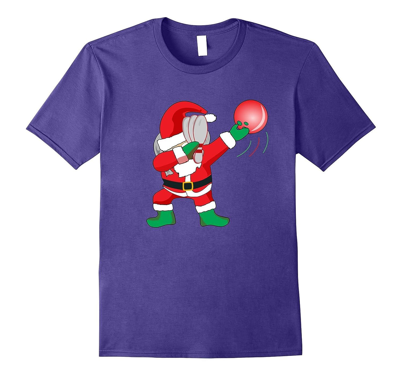 Christmas Dabbing Santa Bowling Shirt Dabbing Santa Tee-FL