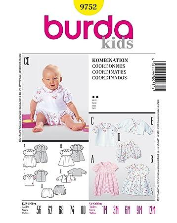 Burda Schnittmuster 9752 Baby Gr. 56-80: Amazon.de: Küche & Haushalt