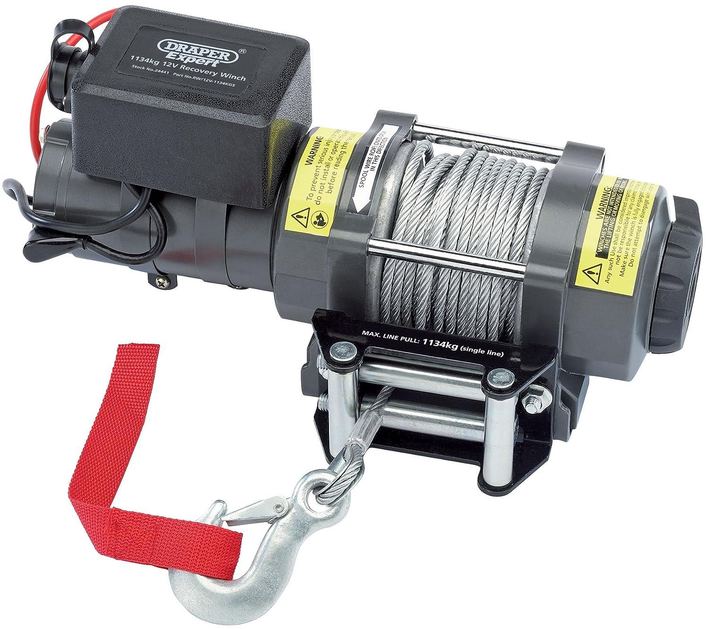 Draper Tools RW/12V-1134KGS Expert 1134Kg 12V Recovery Winch, Blue, 1134 kg Draper Tools Ltd.