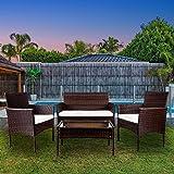 Conjunto muebles 2 plazas Jardín / Terraza, color antracita ...