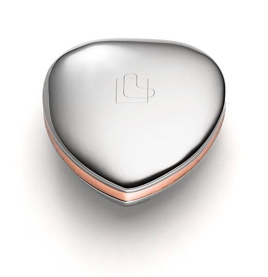 Lunavit Power Heart Duo, Magnetherz aus Edelstahl und Kupfer, für Rücken, Nacken und Gelenke, 1 Neodym Magnet mit 3000 Gauß,