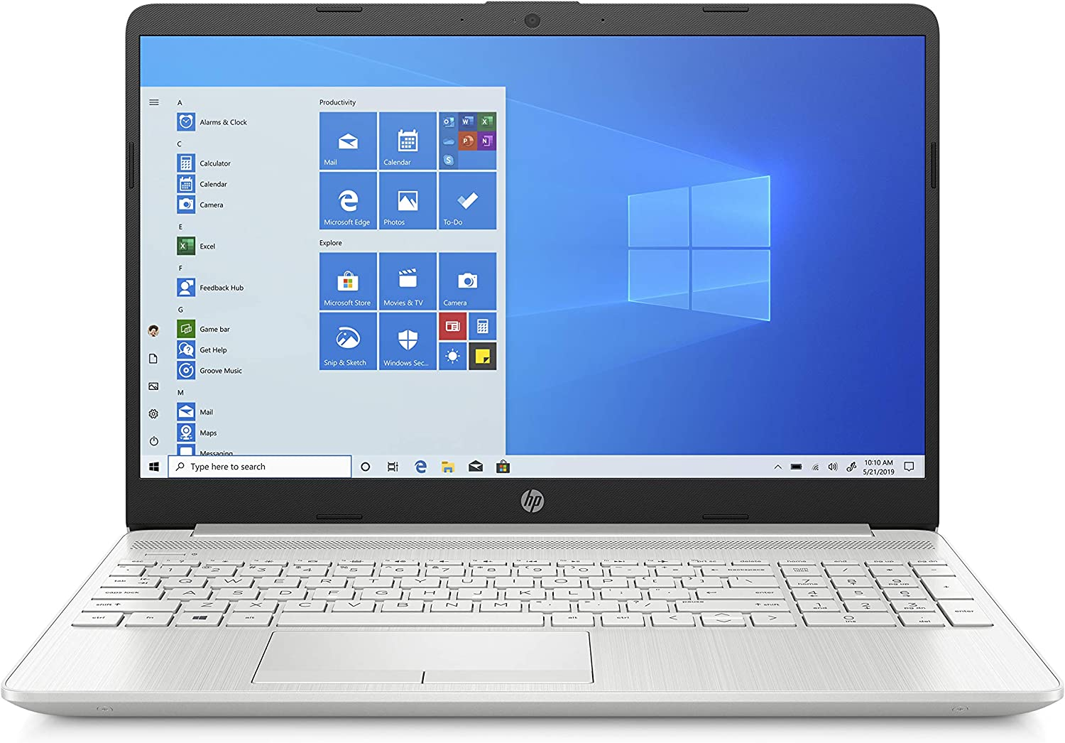 HP 15-dw2081ne Laptop, 15 inches FHD, 10 Gen Intel® Core™ i5 processor