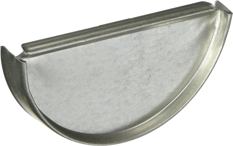AMERIMAX HOME PRODUCTS CEN265 5-Inch Galvanized Half Round End Cap