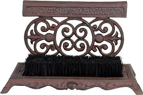 Esschert Design USA LH53 Cast Iron Shoe Scraper with Brush
