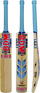 Bdm Sixes English Willow Wood 12 Piece Swark Cane Handle Cricket Bat With Carry Case - Choose Size