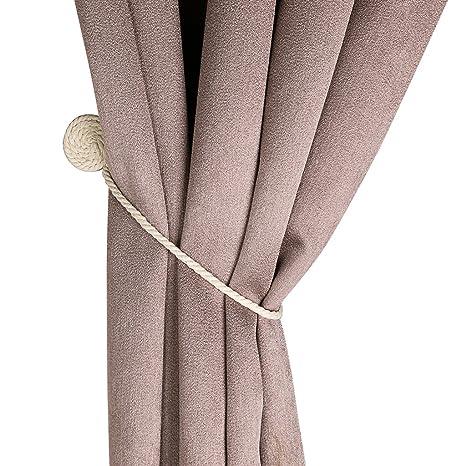 BTSKY 1 par de clips de cortina magnética de algodón para tejer a mano cortinas de