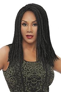 Vivica A Fox Hair Collection HKBK16-N 100% Unprocessed Natural Human Hair Afro Curl Kinky Bulk Extension, Natural, 5.8 Ounce