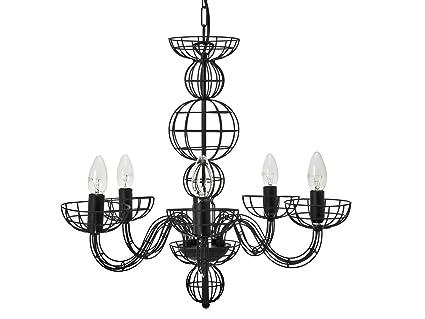 Leitmotiv chandelier linea black amazon lighting leitmotiv chandelier linea black mozeypictures Images