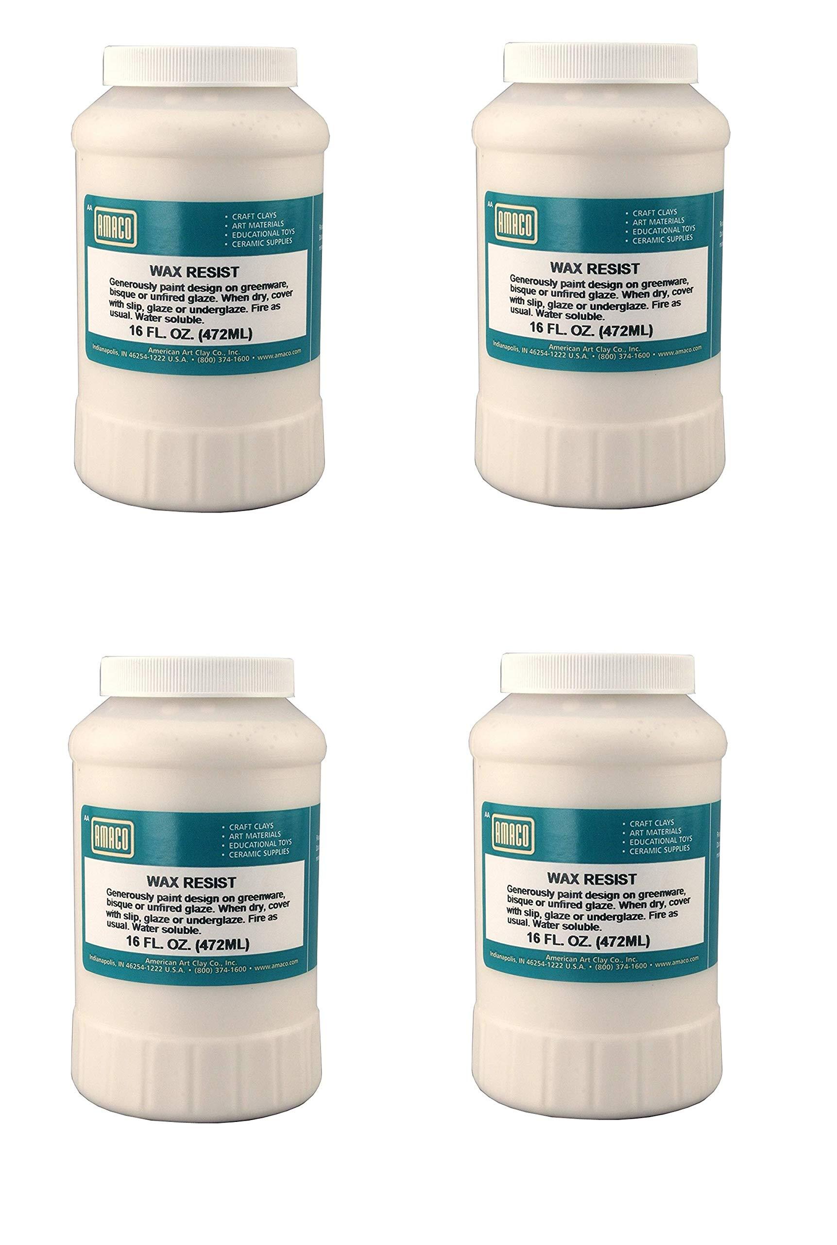 AMACO 1 Pint Jar Wax Resist (Pack of 4)
