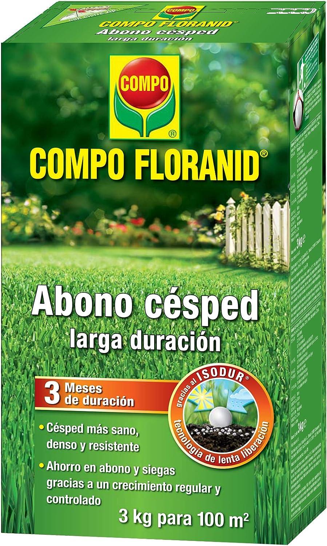 Compo FLORANID Abono césped Larga duración de hasta 3 mese, para 50 m², 1.5 kg: Amazon.es: Jardín