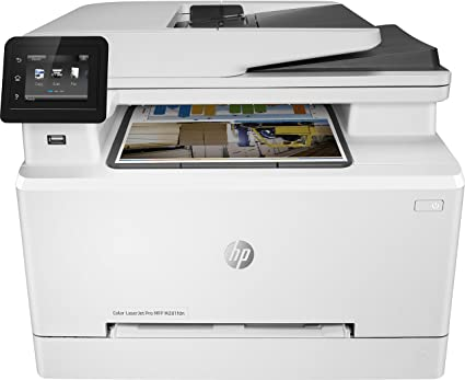 HP Color Laserjet Pro MFP M281fdn – Impresora láser multifunción (LAN, fax, copiar, escanear, Imprimir en Color, 21 ppm), Color Blanco