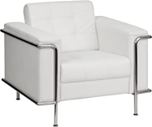 Flash Furniture Leather Chair, Melrose White