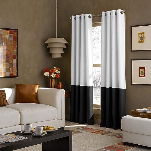 Grey Modern Window Curtains Amazon Com