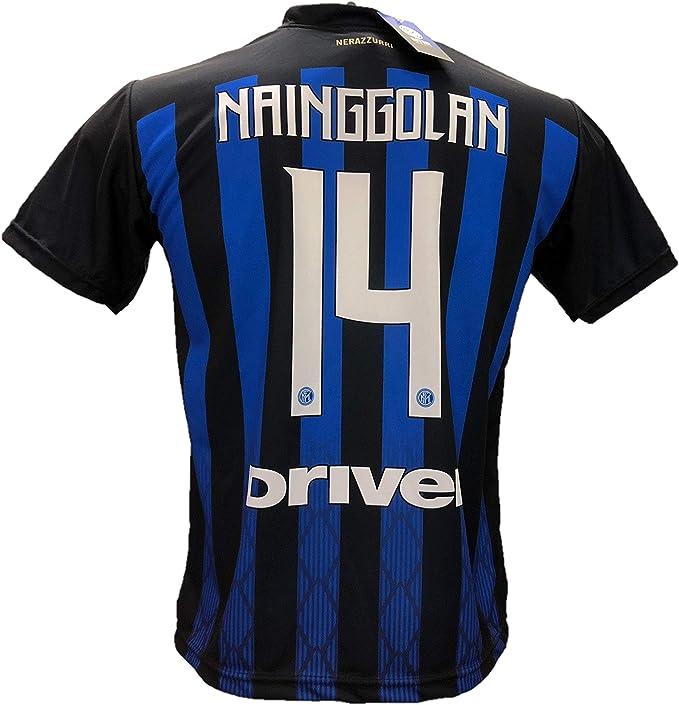F.C.Internazionale - Camiseta de fútbol del Inter NAINGGOLAN 14 réplica autorizada 2018-2019 para niño (tallas 2, 4, 6, 8, 10, 12) para adulto (S M, L XL): Amazon.es: Deportes y aire libre