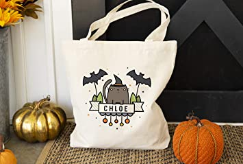 Trick or Treat Halloween Bag Personalized  Kids First Halloween Candy Bag  Halloween Tote Bag  Halloween Ghost