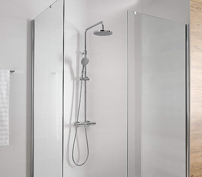 Gala onis - Columna ducha termostatico fija onis: Amazon.es ...