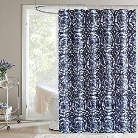 Home Classics Dark Blue Surf Indigo Fabric Shower Curtain Bath Decor