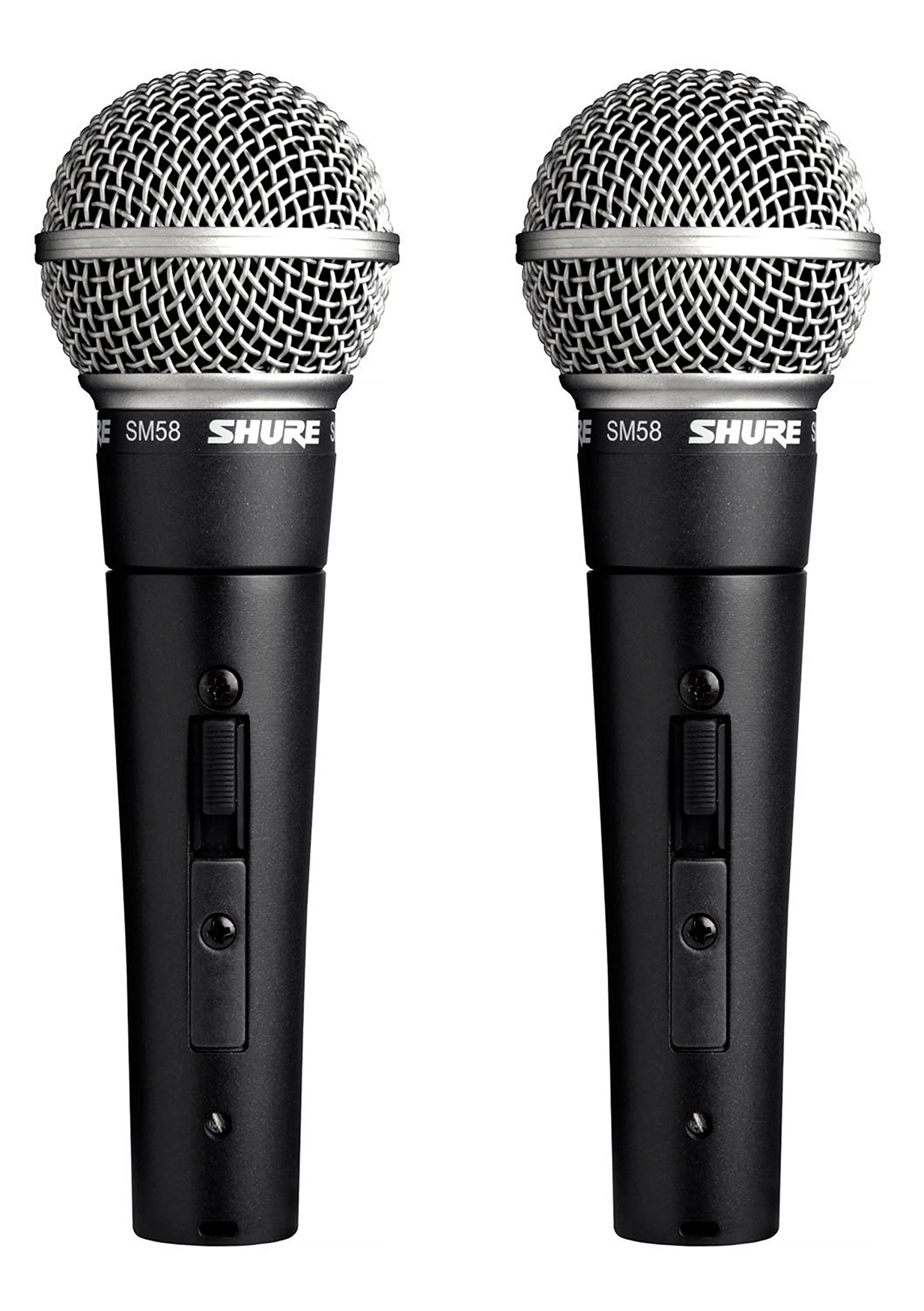 Shure SM58S Professional Vocal Microphone w/On/Off Switch (2 Pack) by Shure