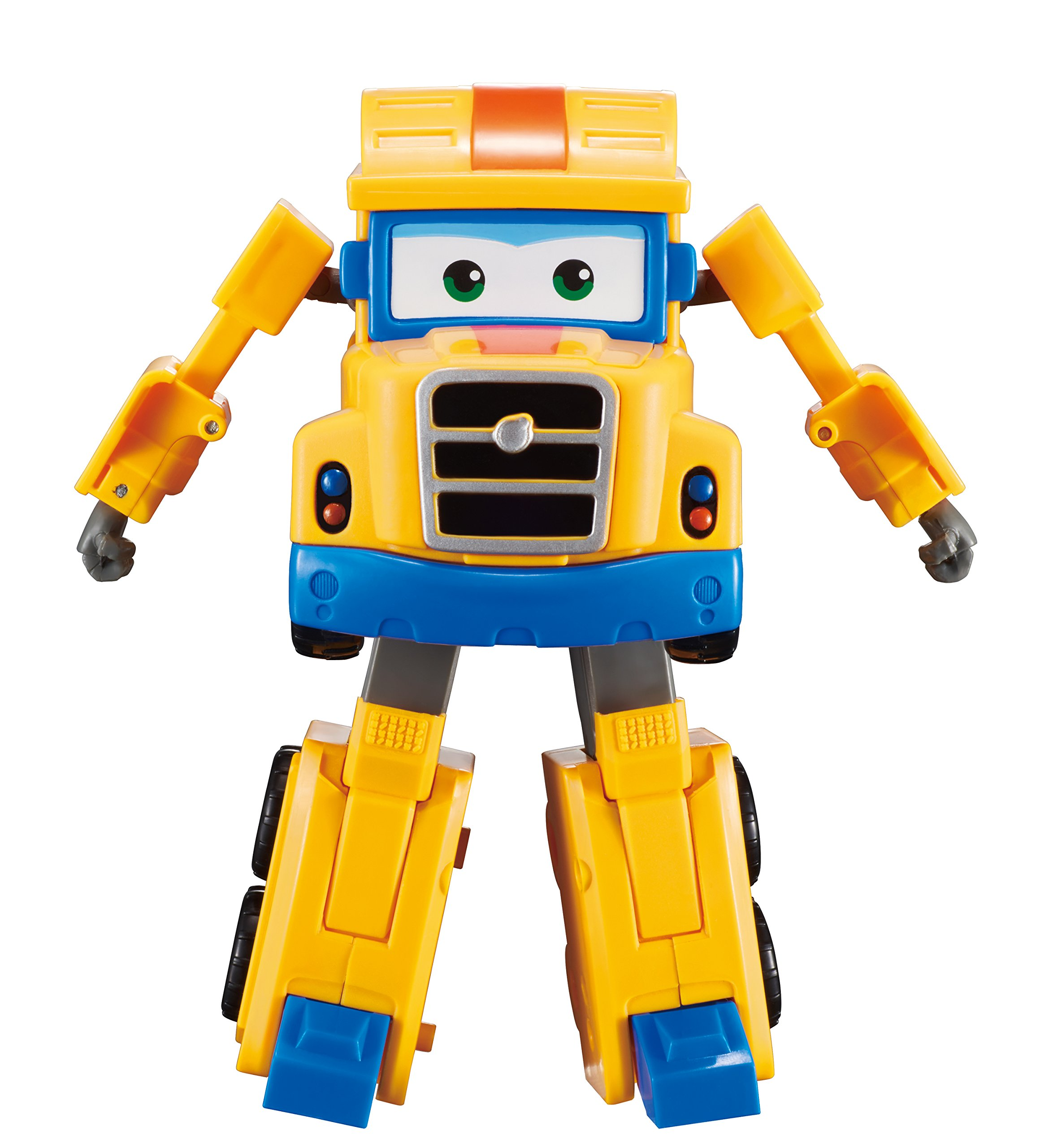 Super Wings - Transforming Poppa Wheels Toy Figure | Big Rig | Truck | Bot | 5'' Scale by Super Wings
