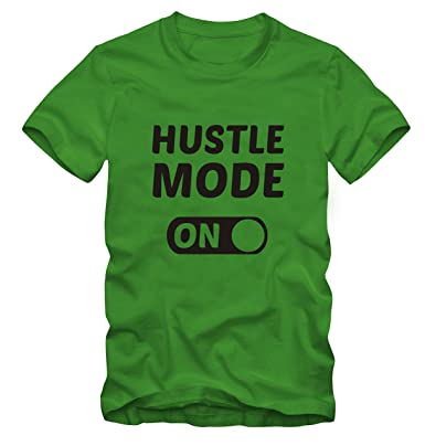 Hustle Mode 100 Cotton T ShirtGreenxsmall