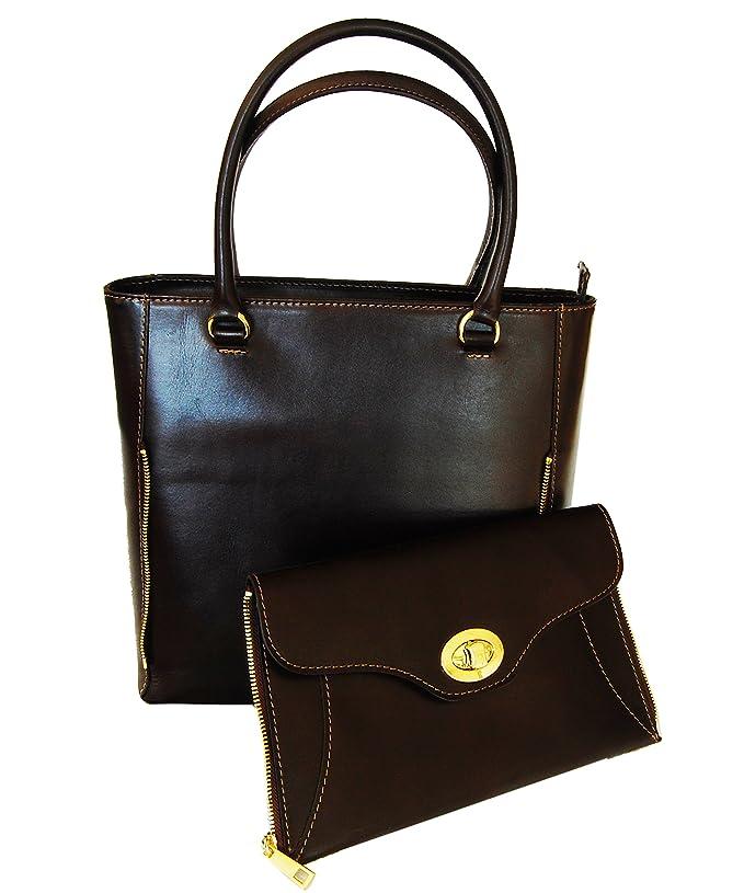 91f2c7f3f95b7 Abverkauf - Lagerräumung - Italienische Lederhandtasche - Henkeltasche  Zürich in Mocca braun