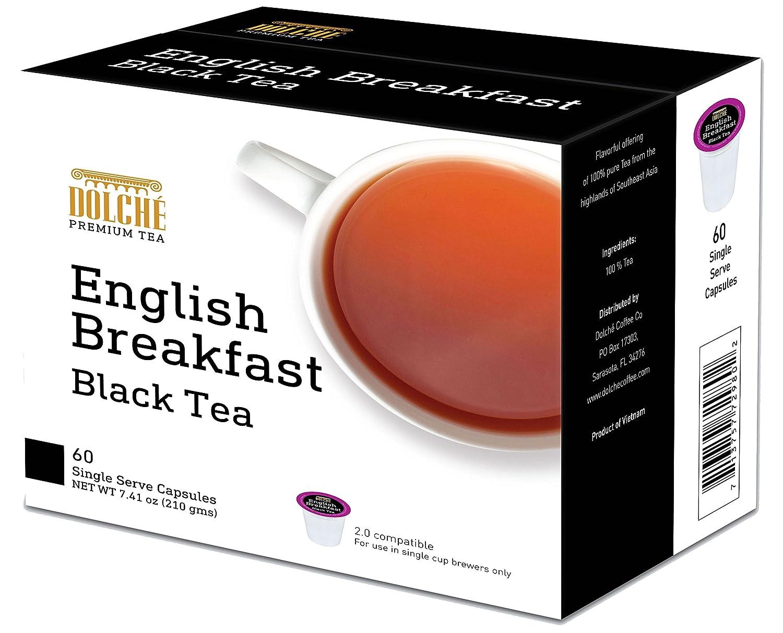 Dolche Tea K Cup 60 Count 2.0 Compatible (Black Tea)