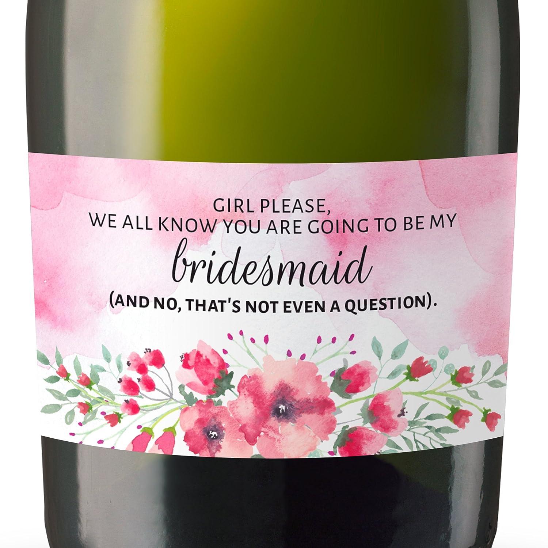 Amazon.com: Bridal Proposals Mini Champagne Bottle Label Sticker Set ...