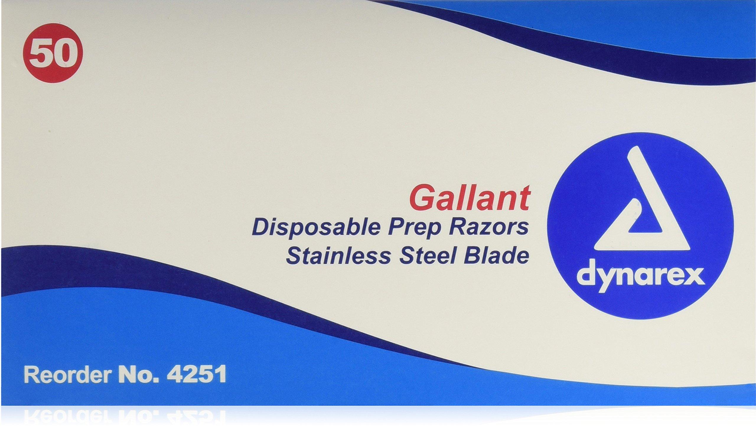 Dynarex Gallant™ Disposable Prep Razors, 5 Count