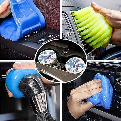 Tboonor Auto Reinigungsgel Für Den Innenraum 2 Stück Universal Staubreiniger Für Autoreinigung Weicher Flexibler Und Umweltfreundlichem Tastatur Reiniger Für Laptop Drucker Kamera 320g Auto