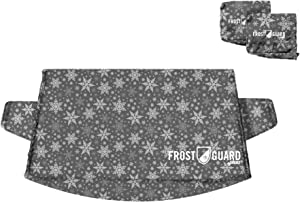 FrostGuard Plus Winter Windshield + Mirror Covers - Weather Resistant - Security Panels and Wiper Blade Cover - Protects from Snow, Ice and Frost (X-Large, Snowflake)