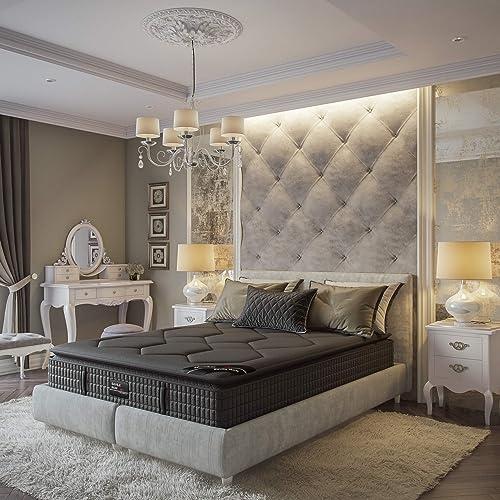 Savile Row No. 14 Premium Innerspring and Memory Foam Hybrid Pillow Top 13.5 Inch Luxury Mattress