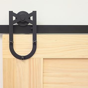 Homacer - Kit de herramientas para puerta corredera de una sola barra, 4 – 20 pies, diseño recto,