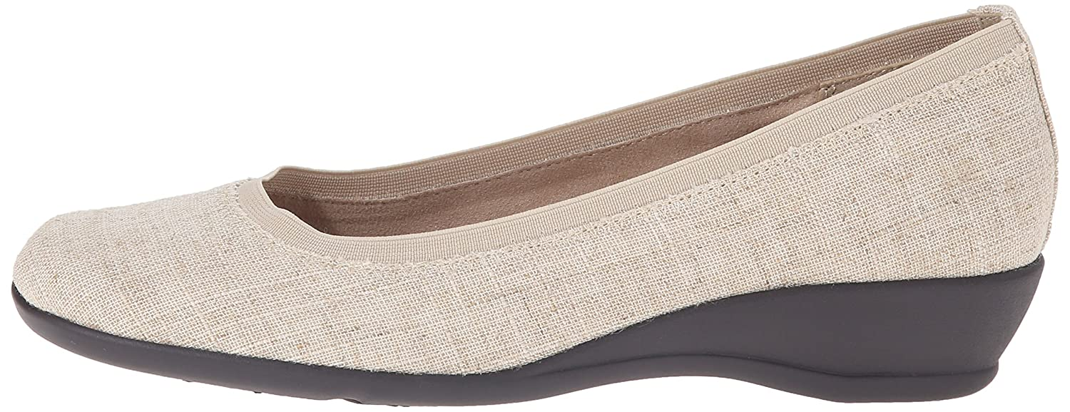 Soft Style by Hush Puppies Women's Rogan Flat B0113OJKJS 8 B(M) US|Natural Linen