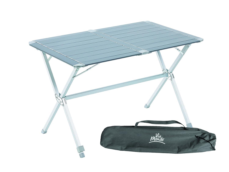 Über Mondo Medium Lattenrost Campingtisch, zusammenklappbar mit verstellbaren Beinen
